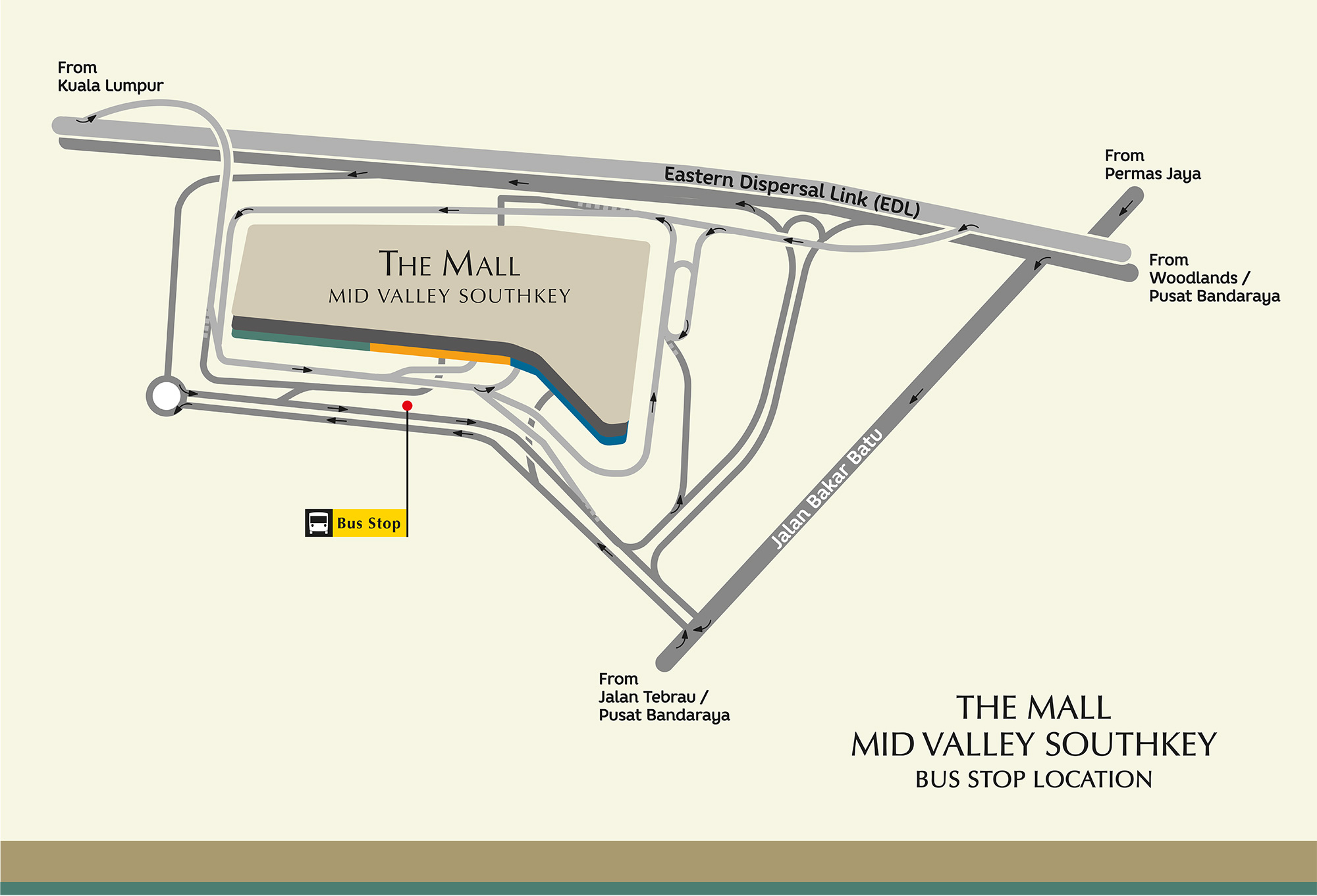 Getting Here by bus | Mid Valley Southkey on las vegas monorail stops map, atm map, metropolitan map, multi-stop map, subway stop map,