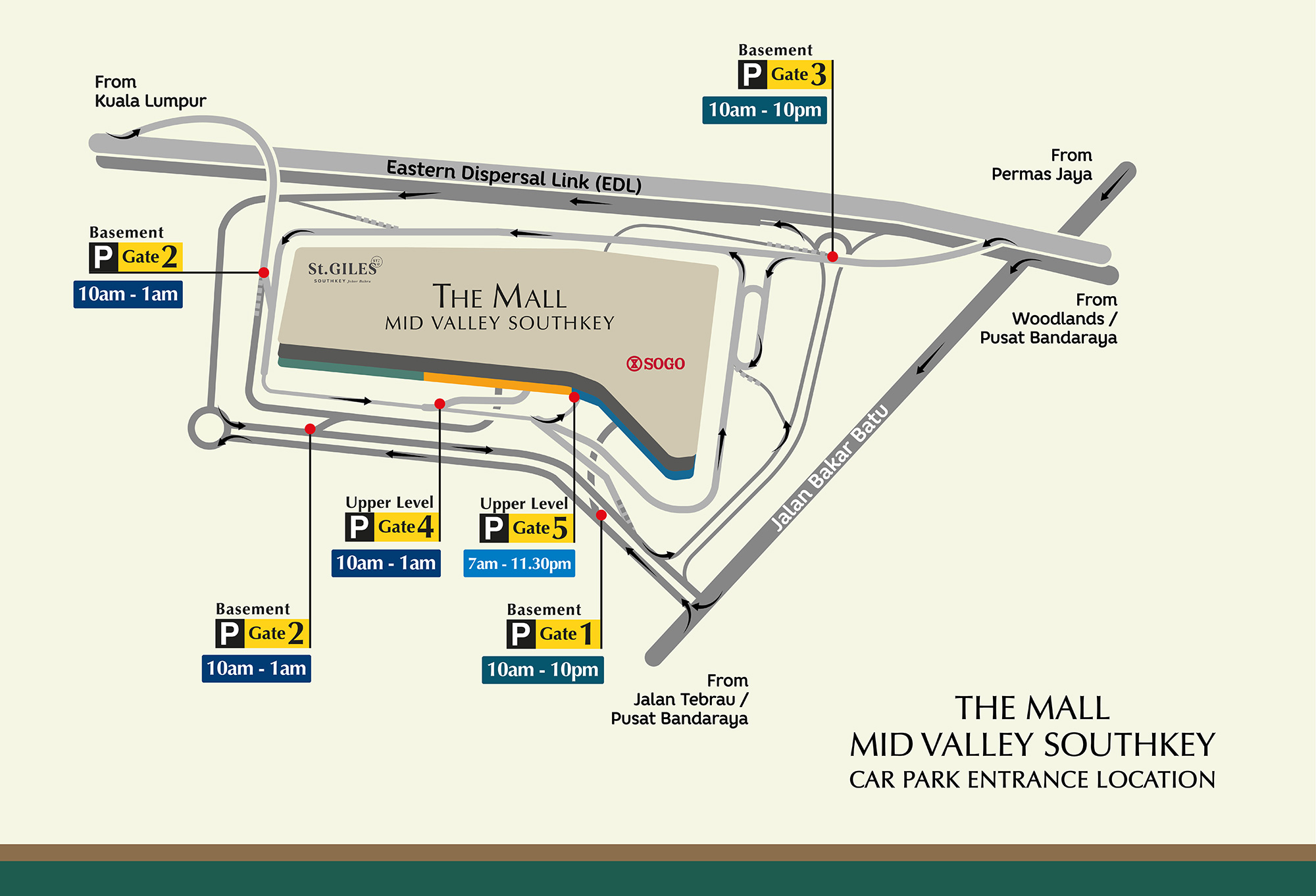 Getting Here by car | Mid Valley Southkey